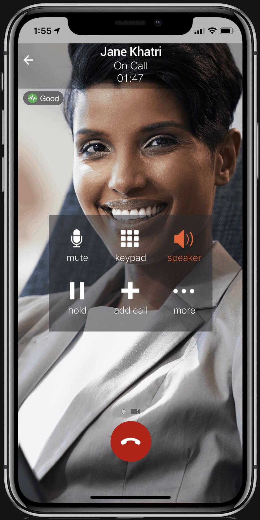 Video iPhone X Cloud Based PBX Phone System